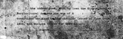 Loan Slip 1933